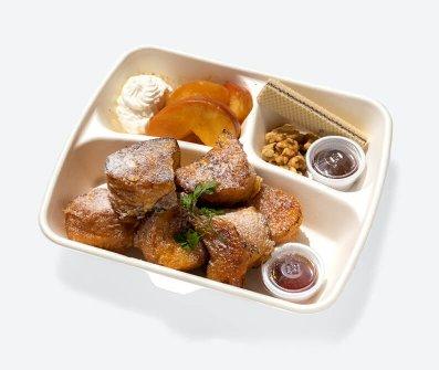 林檎コンポートのキャラメルフレンチトースト